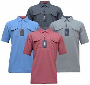 Mens Short Sleeve Golf Polo Simon Shirt T- shirt Top Casual M - 6XL by Tom Hagan