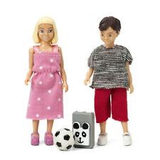 2 Puppen Kinder Schulkinder Junge+Mädchen Puppenhaus Lundby