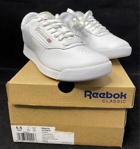 Reebok Women's Princess Classic Design Sneakers White Size 5.5 USA New In Box