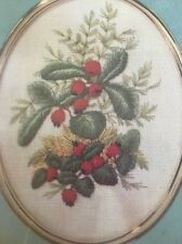 NIP VINTAGE CATHY NEEDLECRAFT GOLDEN OVALS FOREST BERRIES EMBROIDERY KIT
