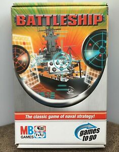 Battleship - Games to Go Travel Edition 2005 MB Games  Sealed Contents