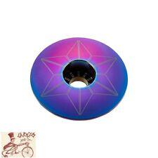 "SUPACAZ STAR CAPZ 1-1/8"" ANODIZED OILSLICK BICYCLE HEADSET TOP CAP"