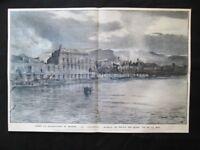 Dopo la distruzione di Messina, Terremoto del 1908 La Palazzata Stampa del 1909
