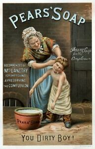 Pears Soap reproduction Advertising Poster A4 photo dirty boy