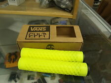 CULT BIKES VANS FLANGELESS YELLOW BMX BICYCLE SCOOTER FIXED GRIPS
