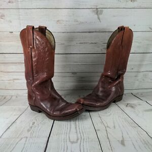 Sendra Handmade Men Cowboy Boots Brown Leather Real Python Details Western Biker