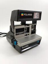 POLAROID SUN 600 SE Land Camera w/ Strap. Grey