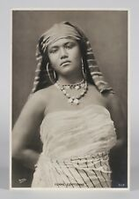 Large Orientalist Photograph by Andreas D.Reiser - Beautiful Egyptian Woman 1895