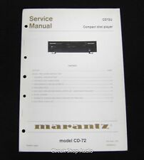 Original Marantz CD-72 CD Player Service Manual