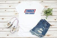 Thicker Than A Snicker Custom T-Shirt Tee Thick Funny Women's Shirt New