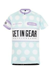 Girls Cycle Jersey, Get In Gear, Polka Dot, Short Sleeved
