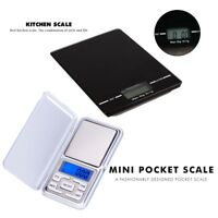 Digital Electronic Weight Scale For jewelry and food Glass LCD 0.01g/200g 1g/5KG
