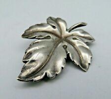 Silber 835 Brosche Blatt