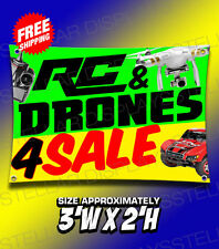RC & DRONES 4 SALE Hobby Shop Toy Gift Banner Poster Displays Open Business Sign