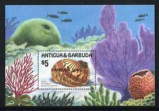 Barbuda 817 MNH Marine Life Linne Colorful Atlantic Natica 1986 Overprint x18738