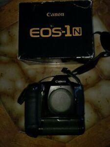 Canon EOS 1N 35mm SLR Film Camera Body & Powerbooster PB-E2