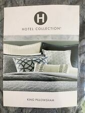 NWT 2 Hotel Collection Connections Indigo King Pillow Shams