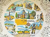 """Montana State 9""""  Plate Rocky Mountain Goat Festival at Crow Silver"""