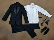 1/6 James Bond Clothing Tuxdeo Pierce Brosnan Daniel Craig Hot Toys Head Sculpt