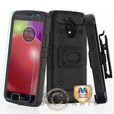 Motorola Moto E4 Kinetic Hybrid Case - Black/Black Guard Shield