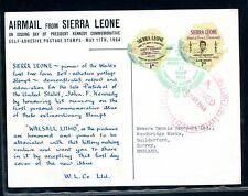 John F Kennedy  Sierra Leone 1964 used Postcard    (Au369)