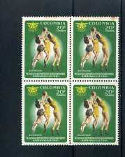 BASKBALL{LADIES}- IV JUEGOS BOLIVARIANOS-  B/QUILLA  1961  4 STAMPS-COLOMBIA