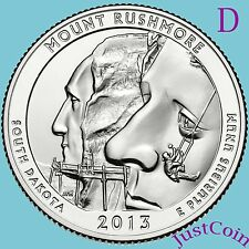2013-D MOUNT RUSHMORE NATIONAL MEMORIAL QUARTER UNCIRCULATED FROM MINT ROLL