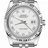 Ladies Rolex 26mm Datejust Stainless Steel White Color Roman Numeral Dial Deploy