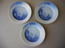 CHRISTMAS ROSE PORCELAIN DESSERT PIE PLATES - SET OF 3 BING & GRONDAHL - DENMARK