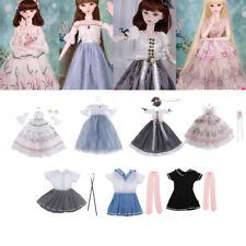 Handmade BJD Doll Clothes Dress Headwear Set for 1/3 60cm Girl Dolls Accs