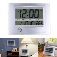 La Crosse Technology WT-8002U Digital Wall Clock Calendar Temperature Alarm Time