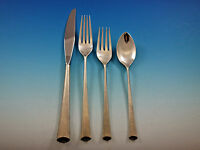 Royal Satin by Wallace Sterling Silver Flatware Set for 8 Service 36 pcs Modern