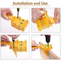Guía de taladro de mano en madera Clavijas Jig Pasador de perforación Serrucho