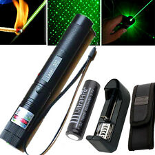 10 Miles Pointeur Laser 532nm Vert 1mW Pen Visible Light + Chargeur + Batterie