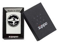 Zippo Bradford  White Matte Tree Of Life Windproof Lighter New In Box MAD in USA