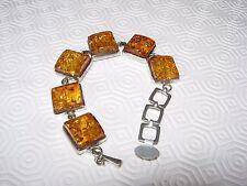 Amber argento pesante braccialetto 100% AUTENTICO