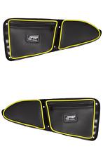PRP Seats Black/Yellow Stock Door Bag Knee Pad Polaris RZR XP1000 900XC 900S