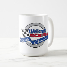 Wellcraft Scarab World Champion Boat Grey 15 oz Ceramic Mug