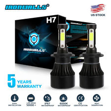 CREE H7 1700W 255000LM 4-Sided LED Headlight Kit High or Lo Light Bulb 6000K Car