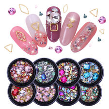 Nail Rhinestones Flat Back Mixed Shape Gems Crushed Stones 3D Tips Decoration