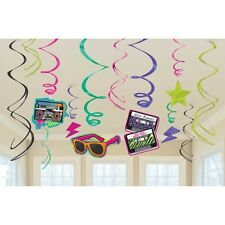 Amscan Totally 80s Swirls Decorations - Item