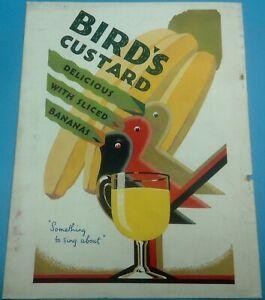 1930 original BIRD'S CUSTARD COLOUR ADVERTISEMENT removed from journal, Lot C