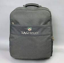 TAG HEUER Gray Backpack from Luxury Watch Maker Hide Adjustable Straps Men's Bag