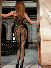 Sexy résille Body Stocking Lingerie Babydoll Robe Entrejambe Body Taille 6-12