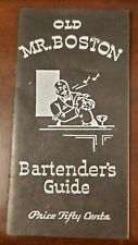 Vintage Old Mr. Boston Bartenders Guide 1st Edition 4th Printing June 1934