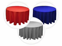 "12 PACKS 120"" inch ROUND Tablecloth WEDDING PARTY 25 Color 5' Ft table cover USA"