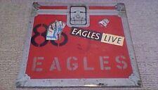 THE EAGLES LIVE Asylum 1st UK G/F 2LP 1980 w POSTER Glenn Frey Don Henley
