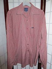 MENS RED FACONNABLE CASUAL OR DRESS SHIRT XL  DESIGNED IN FRANCE