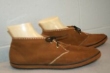 10 NOS Vtg 60s 70s MOD GoGo ANKLE BOOT LaCrosse Solaires BROWN SUEDE BOOTIE Shoe