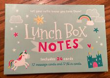 Lena + Liam Lunch Box Notes 24 Pack Unicorn You Are Magical Ab2. Missing 2 Cards